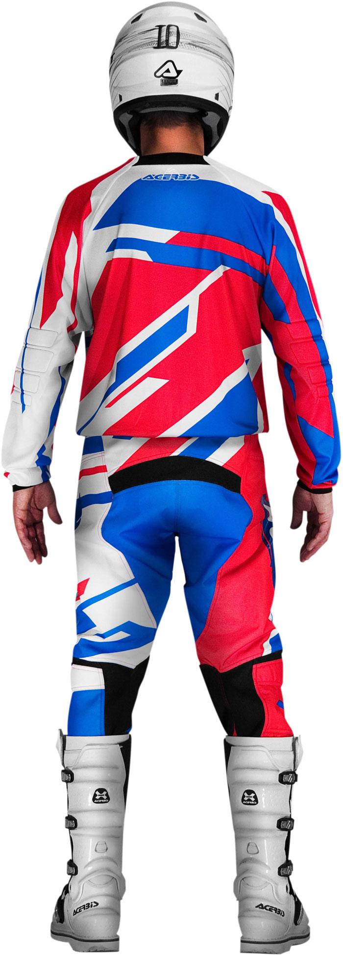 Pantaloni cross Acerbis Profile Rosso Blu