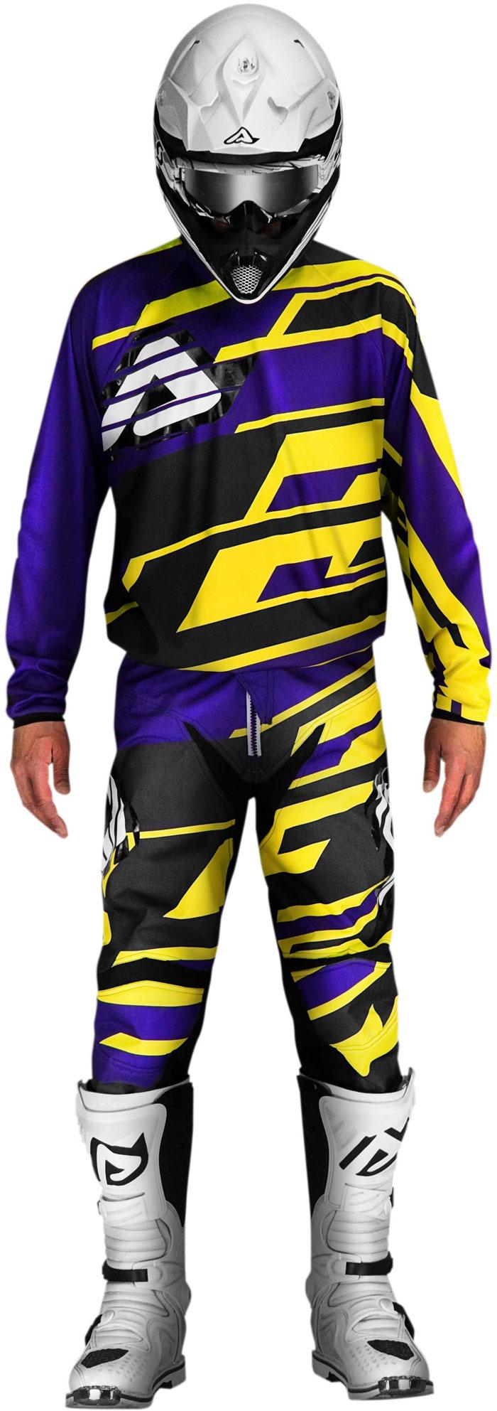 Pants cross Acerbis Profile Purple Yellow