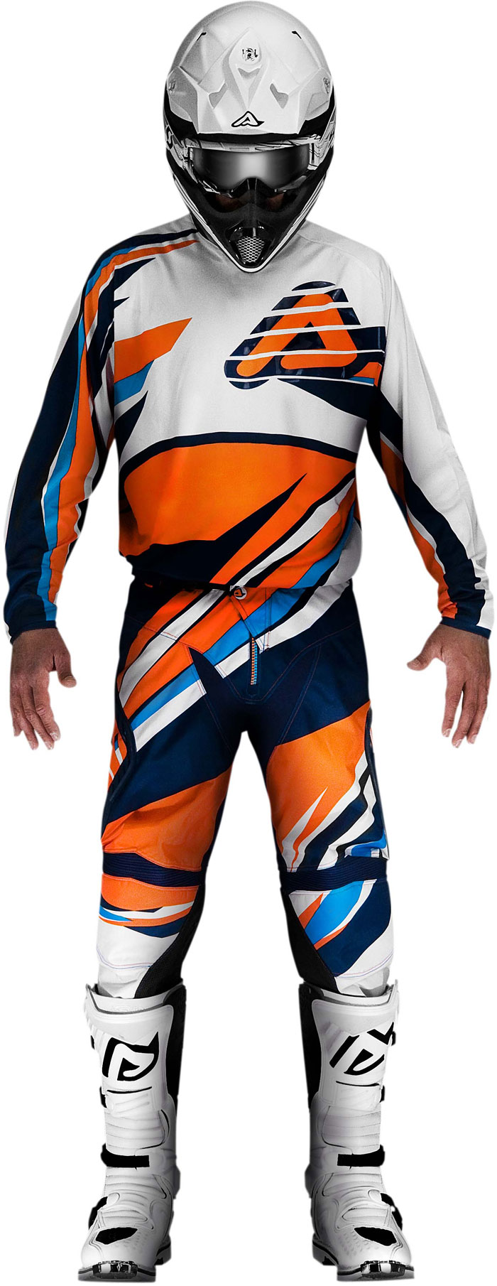 Pants cross Acerbis X-Gear Orange Blue