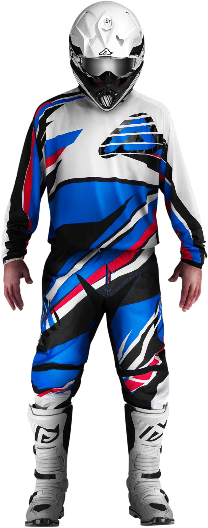 Pants cross Acerbis X-Gear Blue Red