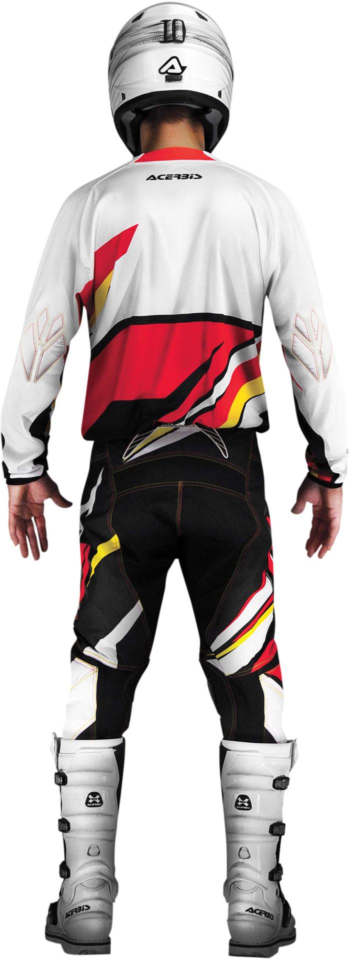 Pantaloni cross Acerbis X-Gear Rosso Giallo