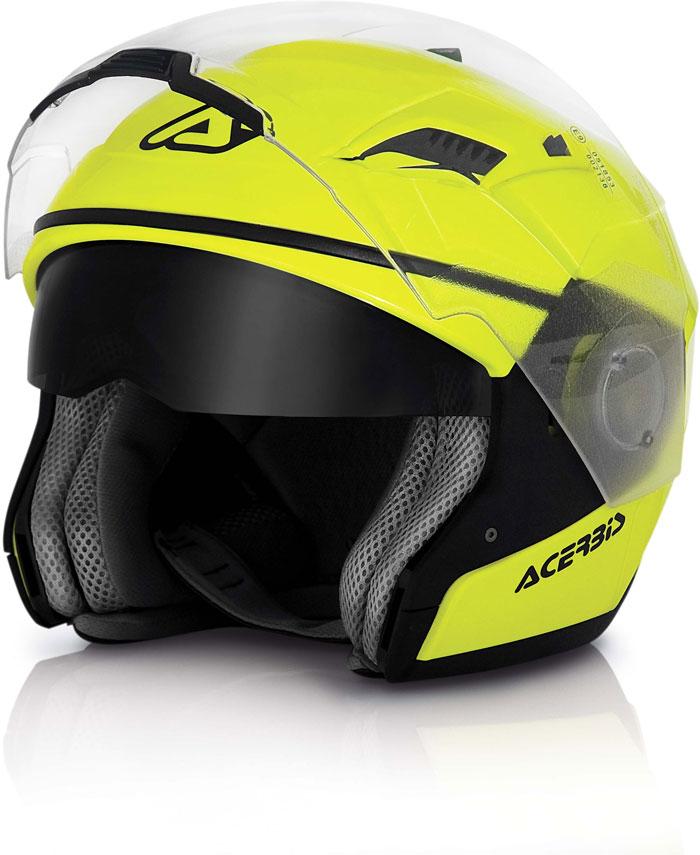 Modular helmet Stratos Acerbis Yellow fluo