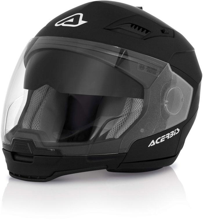Modular Helmet Black Acerbis Stratos