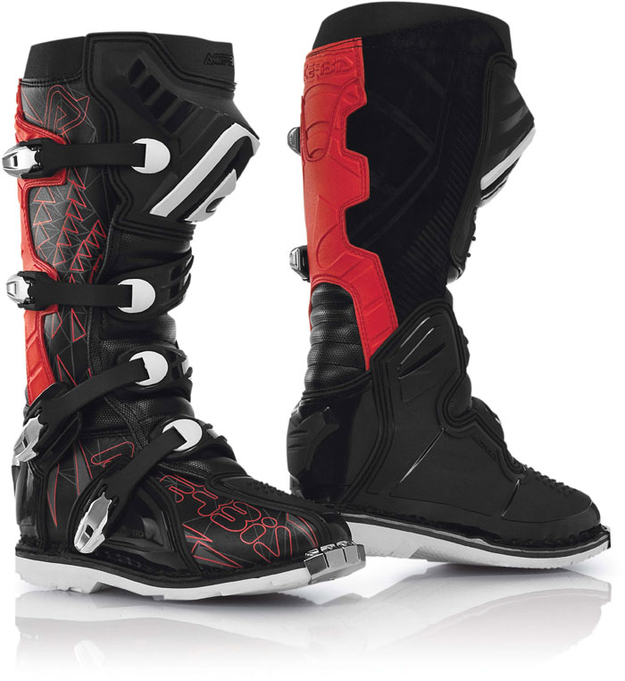 Boots Acerbis cross Shark Black Red