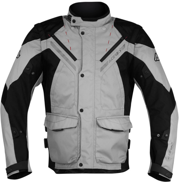 Acerbis Creek motorcycle jacket with detachable sleeves Black Gr