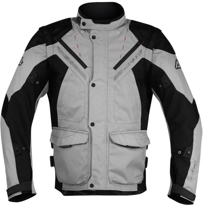 Acerbis Creek motorcycle jacket with detachable sleeves Black Gr