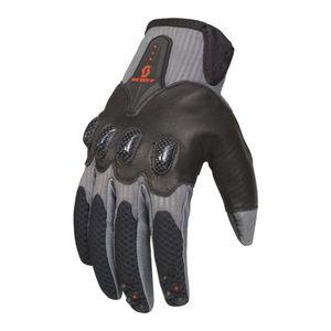 Scott Assault Motocross Gloves White Grey Black