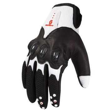 Scott Assault Motocross Gloves White Black
