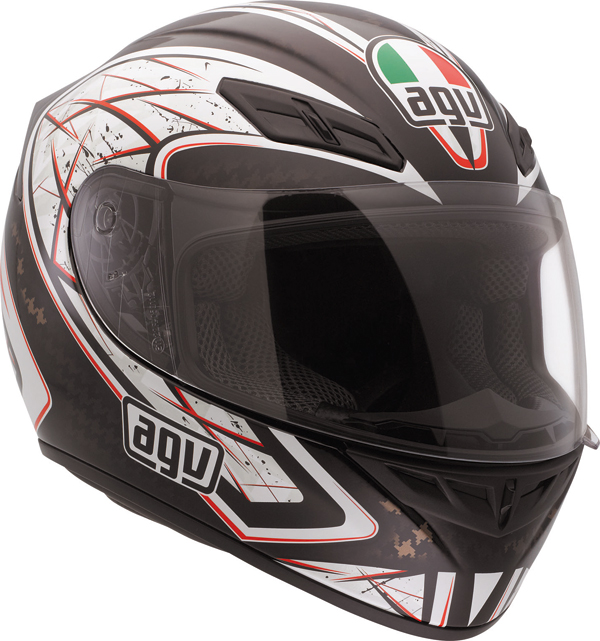 Agv K-4 Evo Multi Sliver full-face helmet black-red
