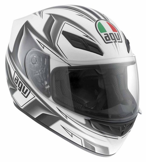 Casco moto Agv K-4 Evo Multi Arrow bianco-gunmetal