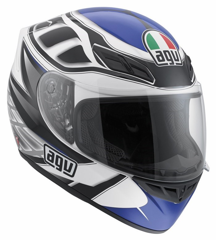 Agv Street Road K-4 Evo Multi Diapason helmet white black blue