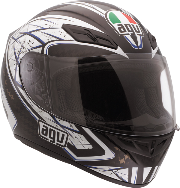 Casco moto Agv K-4 Evo Multi Sliver nero-blu