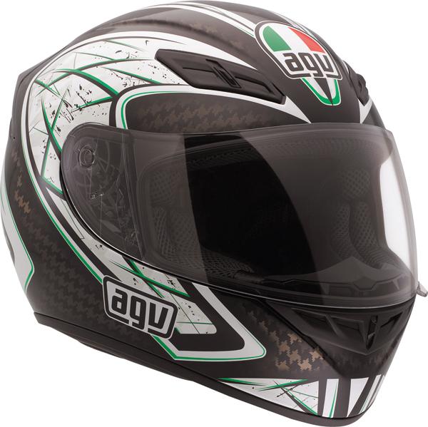 Casco moto Agv K-4 Evo Multi Sliver nero-verde