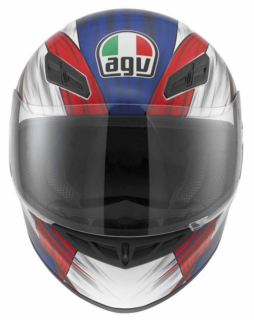 Casco moto Agv K-4 Evo Multi Hang-On bianco-rosso-blu