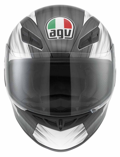 Casco moto Agv K-4 Evo Multi Hang-On Bianco-gunmetal