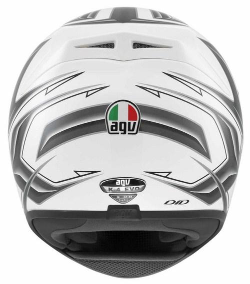 Agv K-4 Evo Multi Arrow full-face helmet white-gunmetal