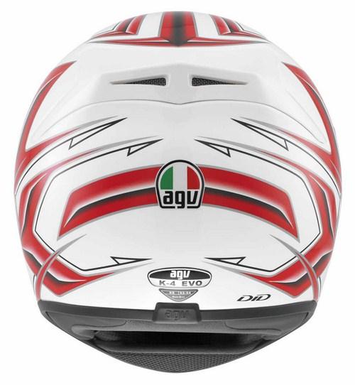 Agv K-4 Evo Multi Arrow full-face helmet white-red