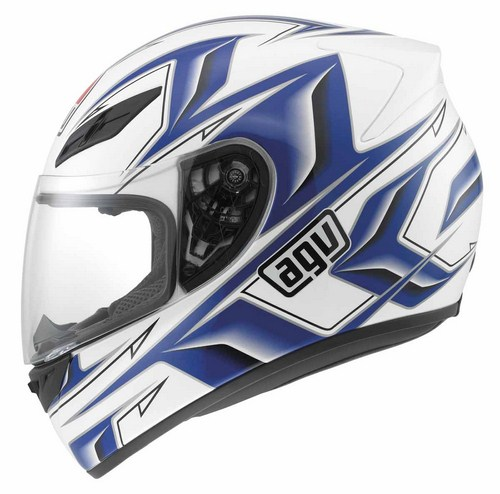 Casco moto Agv K-4 Evo Multi Arrow bianco-blu