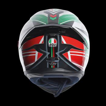 AGV K5 Dimension full face helmet Black White Green