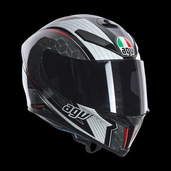 AGV K5 The Cube full face helmet Black Silver RED
