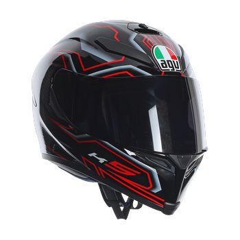AGV K5 Deep full face helmet Black White RED