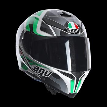 AGV K5 Transformer full face helmet Black White GREEN