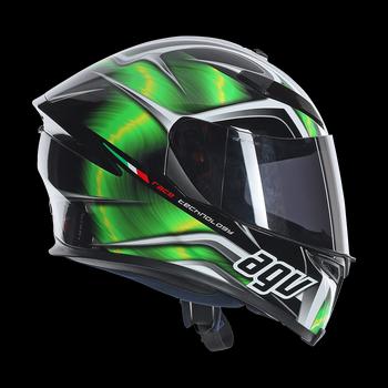 AGV K5 Hurricane full face helmet Green Black White