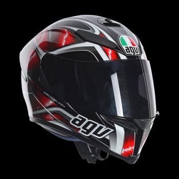 AGV K5 Hurricane full face helmet Black Red White