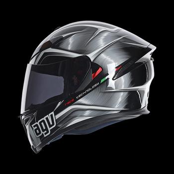 AGV K5 Hurricane full face helmet Gunmetal Black White