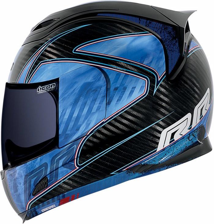 Icon Airframe Full Face Helmet Carbon Blue RR