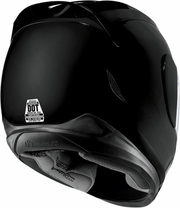 Full Face Helmet Gloss Black Icon Airmada