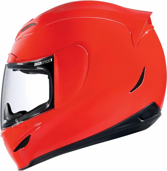 Full Face Helmet Gloss Red Icon Airmada