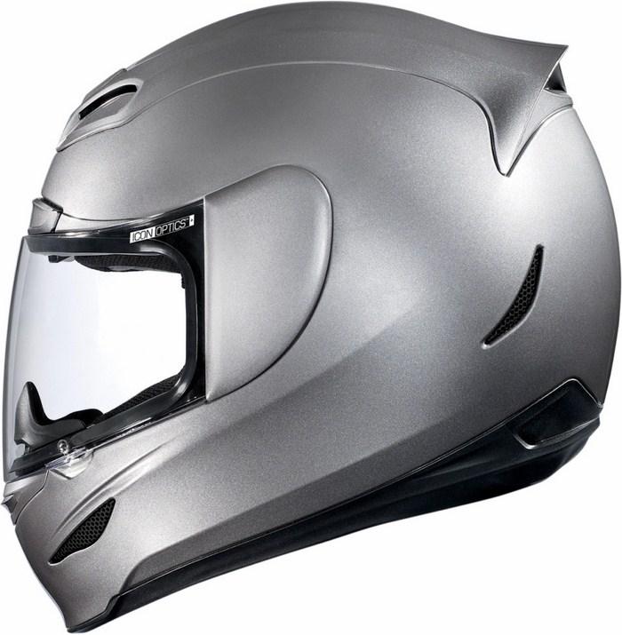 Full Face Helmet Gloss Silver Icon Airmada