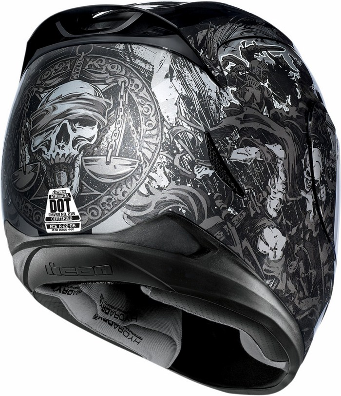 Full Face Helmet Icon Airmada 4 Horsemen