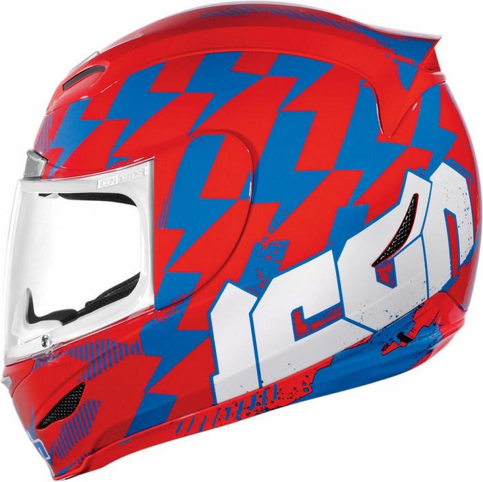 Casco integrale Icon Airmada Stack Rosso Blu