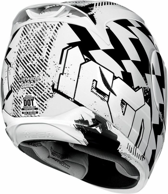 Full Face Helmet Icon Airmada Stack White