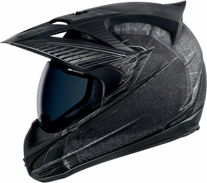 Full Face Helmet Icon Variant Black battlescar