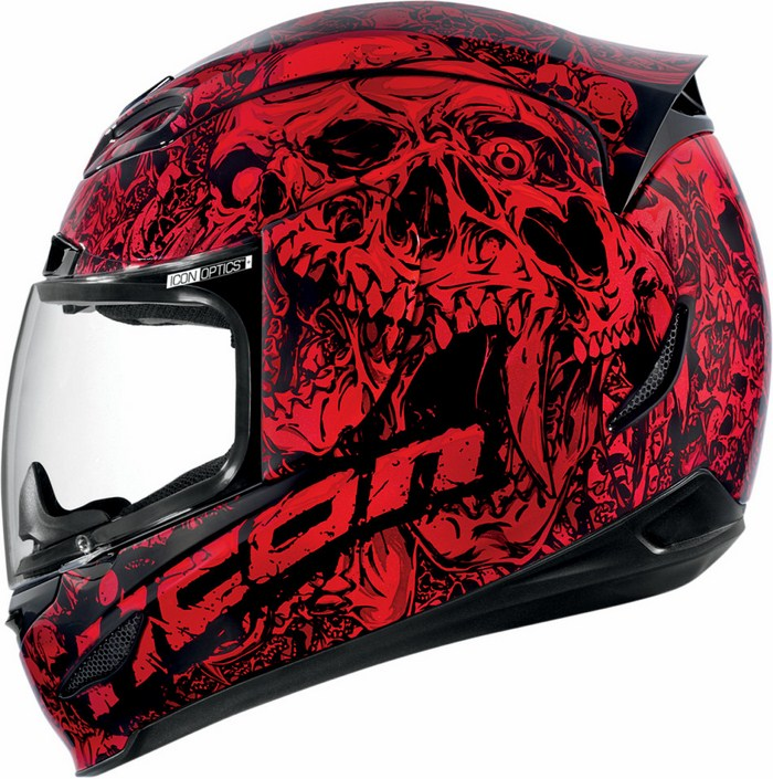 Full Face Helmet Red Icon Airmada Parahuman