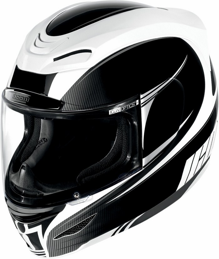 Full Face Helmet Icon Airmada Salient Black