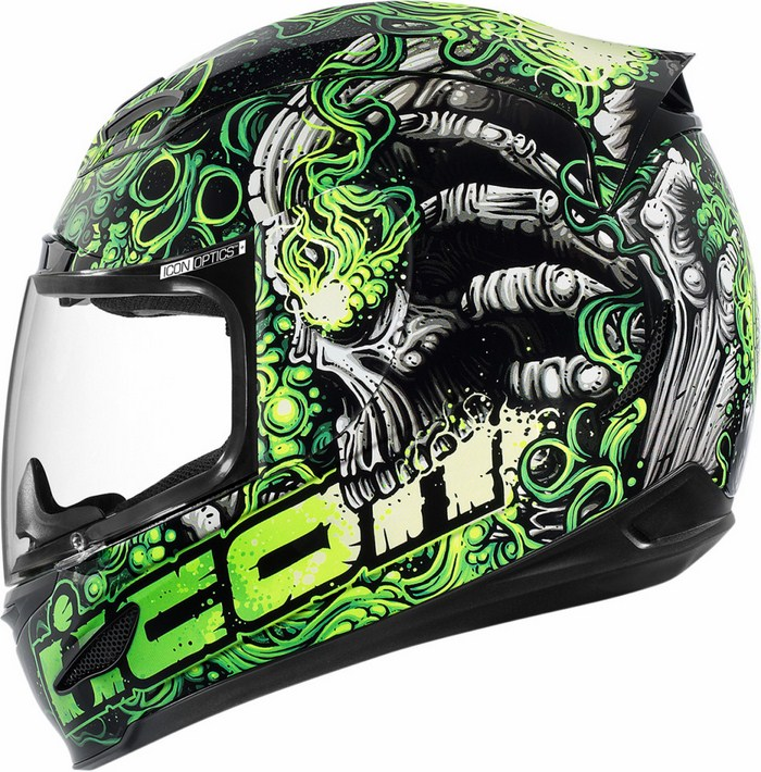 Full Face Helmet Icon Airmada Britton Green