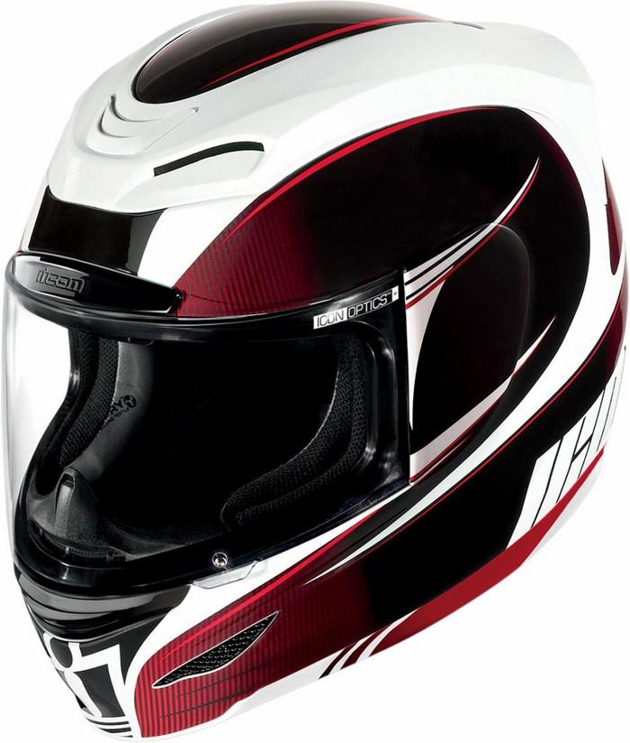 Full Face Helmet Icon Airmada Salient Red