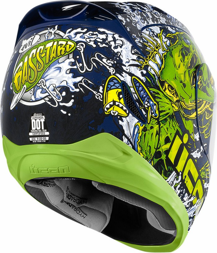 Full Face Helmet Icon Airmada Basstard Green