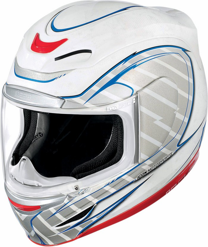Full Face Helmet Icon Airmada Volare White
