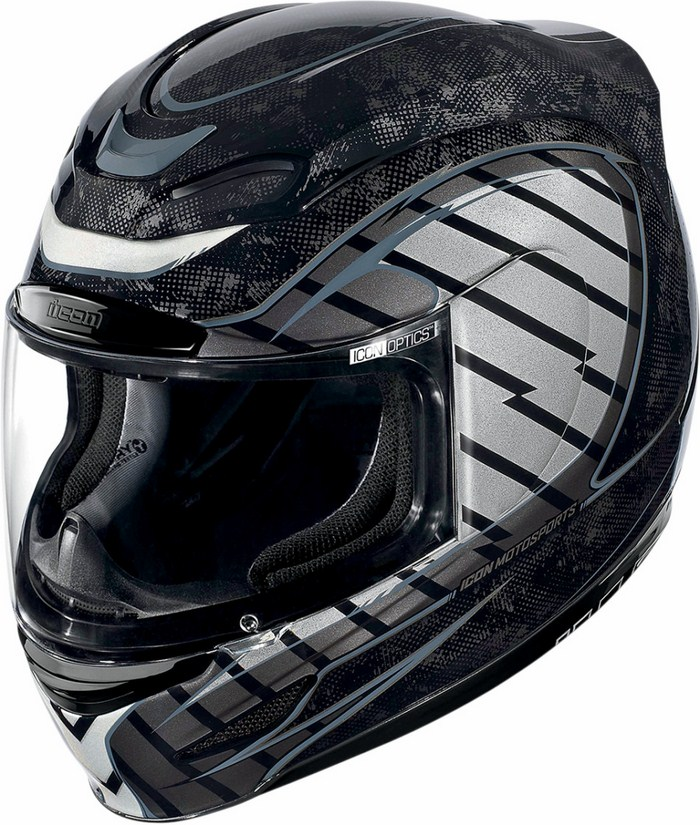 Full Face Helmet Icon Airmada Volare Black