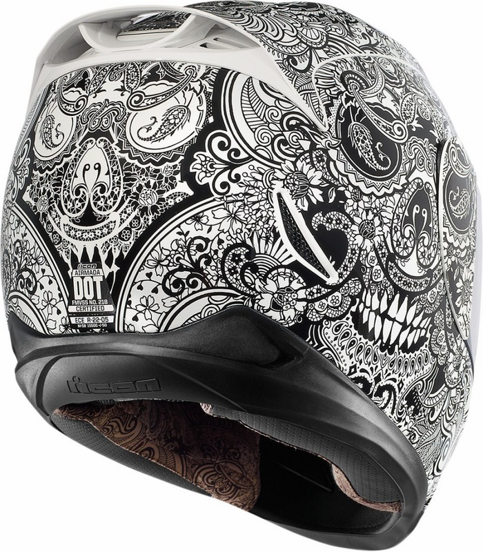 Full Face Helmet Icon Airmada Chantilly White