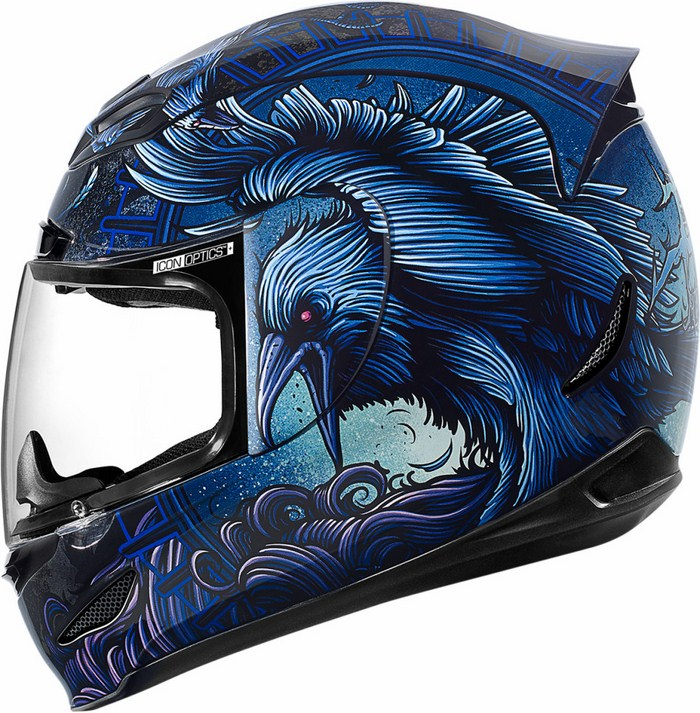 Casco integrale Icon Airmada Ravenous Blu