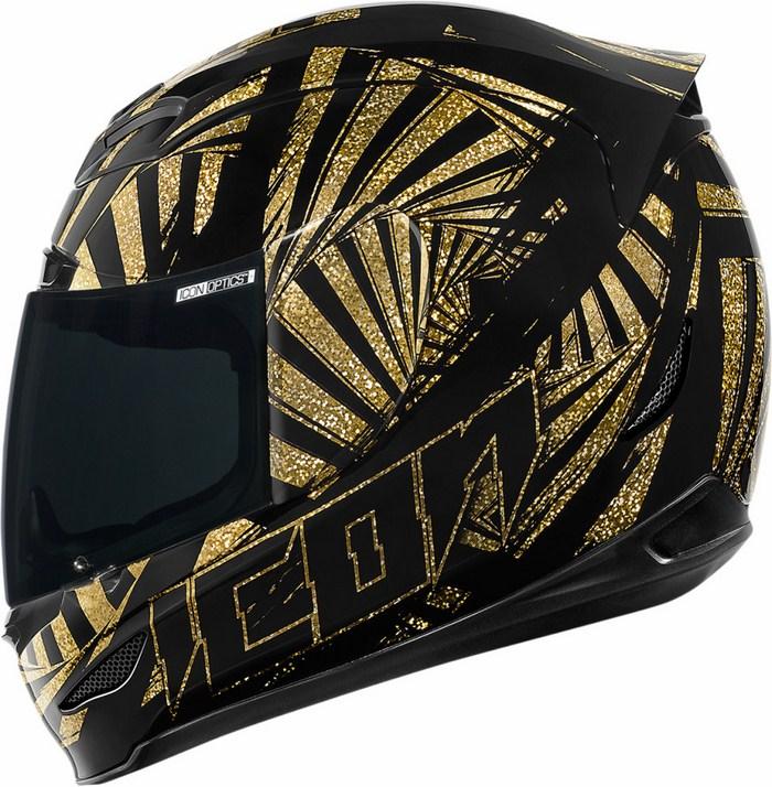 Full Face Helmet Icon Airmada Spaztyk Gold