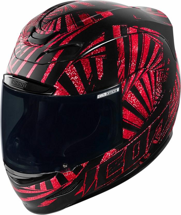 Full Face Helmet Red Icon Airmada Spaztyk