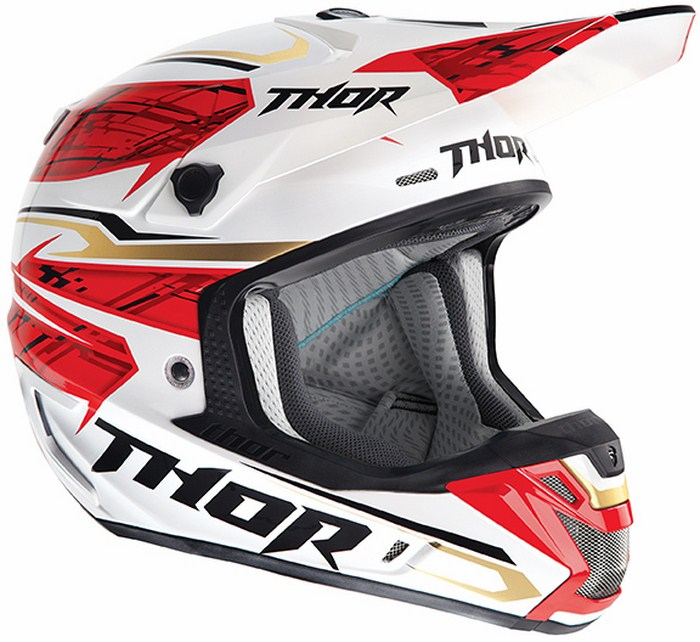 Thor Verge Boxed  enduro helmet red