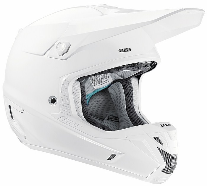 Casco Cross Thor Verge Solids bianco